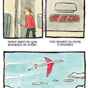 Você nunca mais vai usar um banheiro de avião da mesma maneira