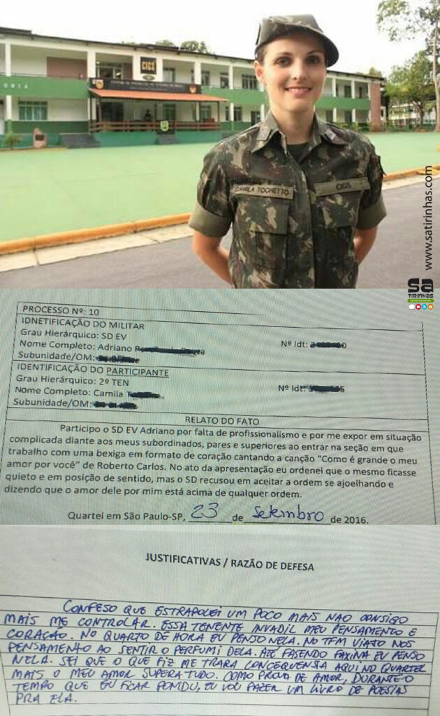 oficial do exército linda