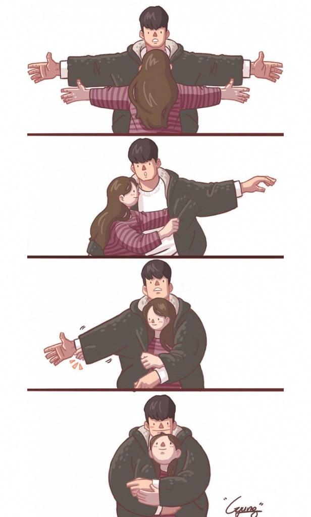 Um abraço carinhoso de várias formas