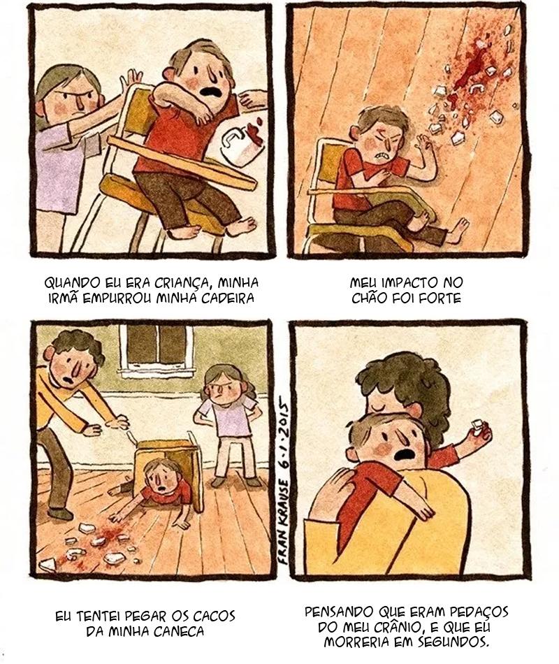 Medo de quebrar o crânio e outros quadrinhos horripilantes