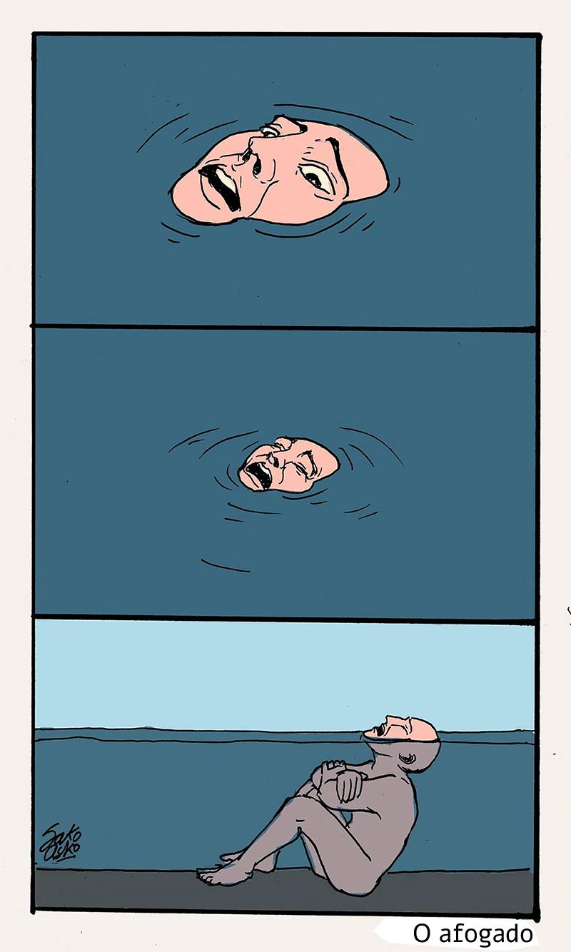 O afogado que não quer se salvar