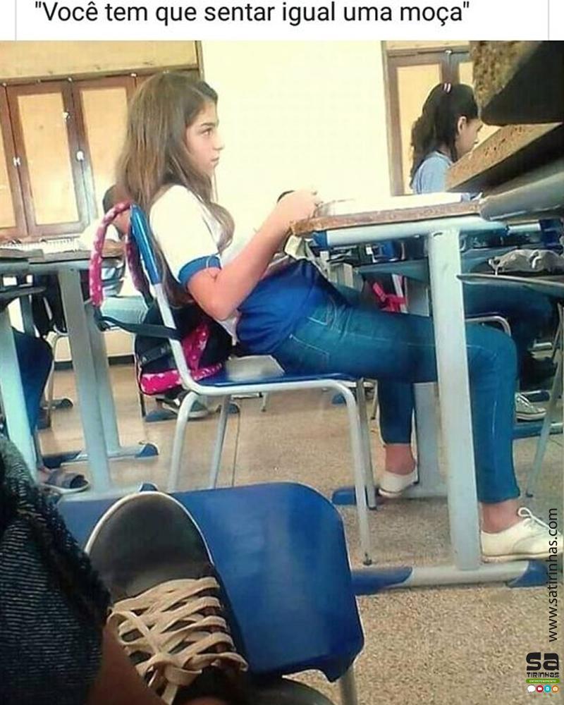 Um belo exemplo na escola