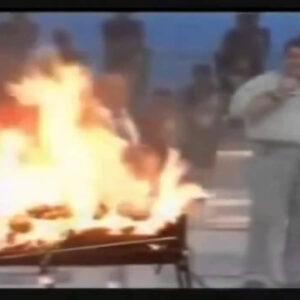 Relembre o dia em que Faustão quase incendiou a Globo