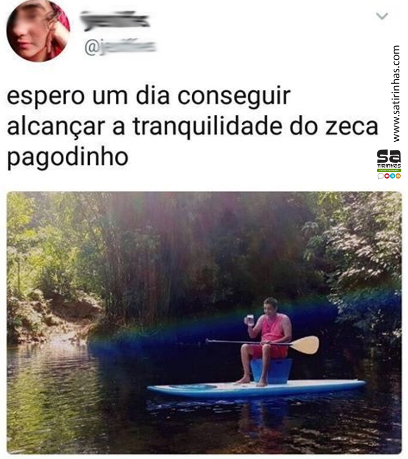 Zeca Pagodinho e sua tranquilidade