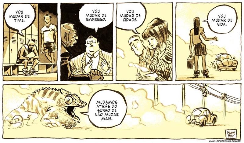 Quadrinhos sobre a fome por mudança