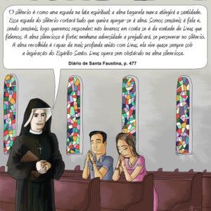 Um conselho de Santa Faustina para quem tem a alma tagarela