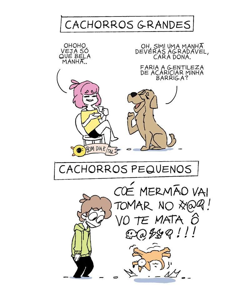 A diferença entre os cães