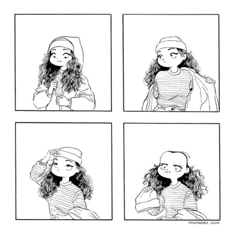 Uma mulher elegante com calor e outros quadrinhos de Cassandra Calin