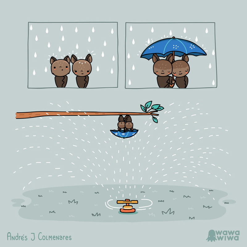 Romantismo em um dia de chuva