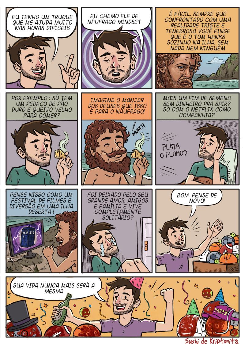 quadrinhos para pensar a vida de maneira diferente