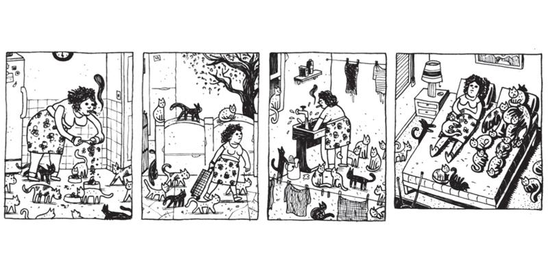 A solteirona e seus gatos