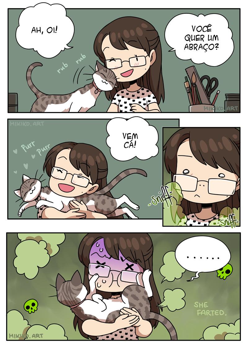 Nunca tente abraçar um gato