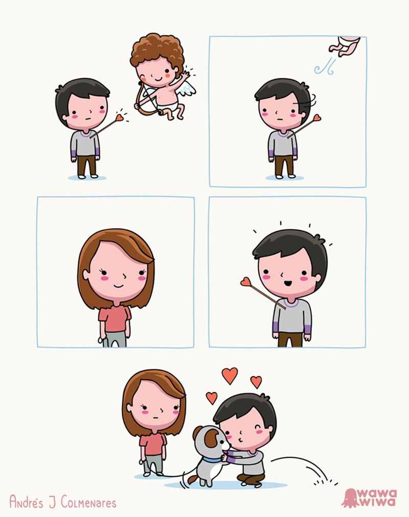 Atingido em cheio pelo amor