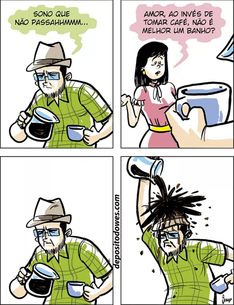 Um banho de café e outros quadrinhos
