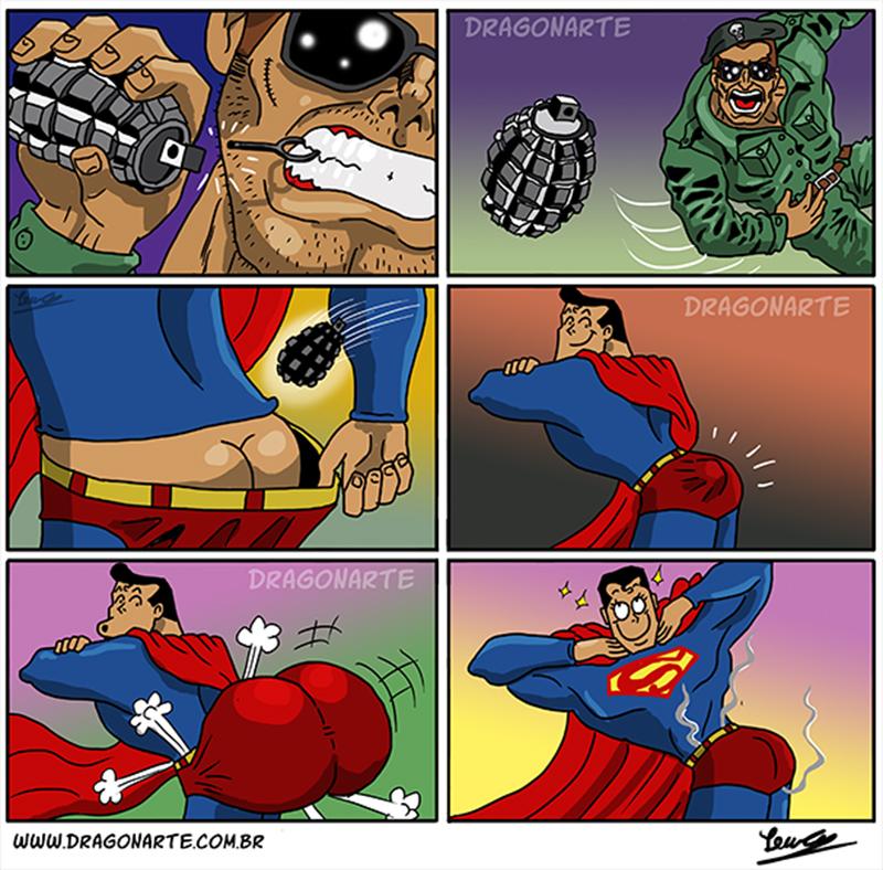 Superman e a explosão nos glúteos