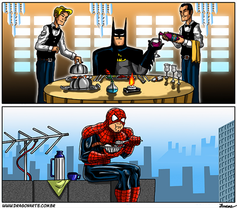 A grande desigualdade entre os heróis