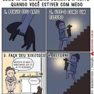 Uma mulher com medo de ir ao banheiro e outros quadrinhos divertidos