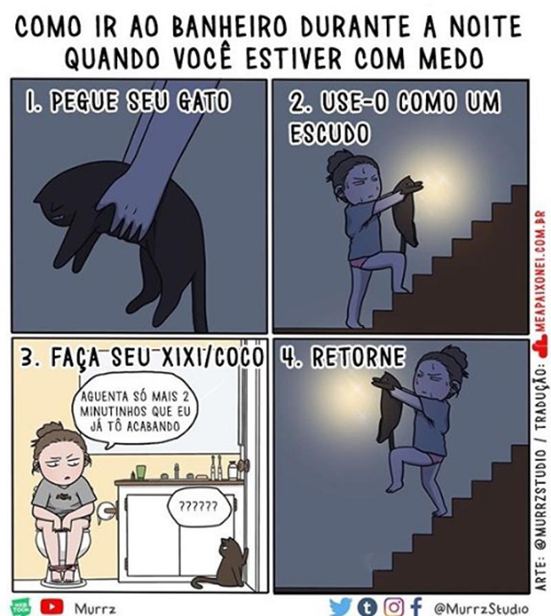 Medo de ir ao banheiro no meio da noite