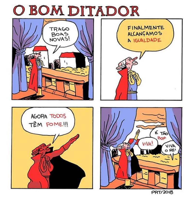 3 quadrinhos sobre um bom ditador