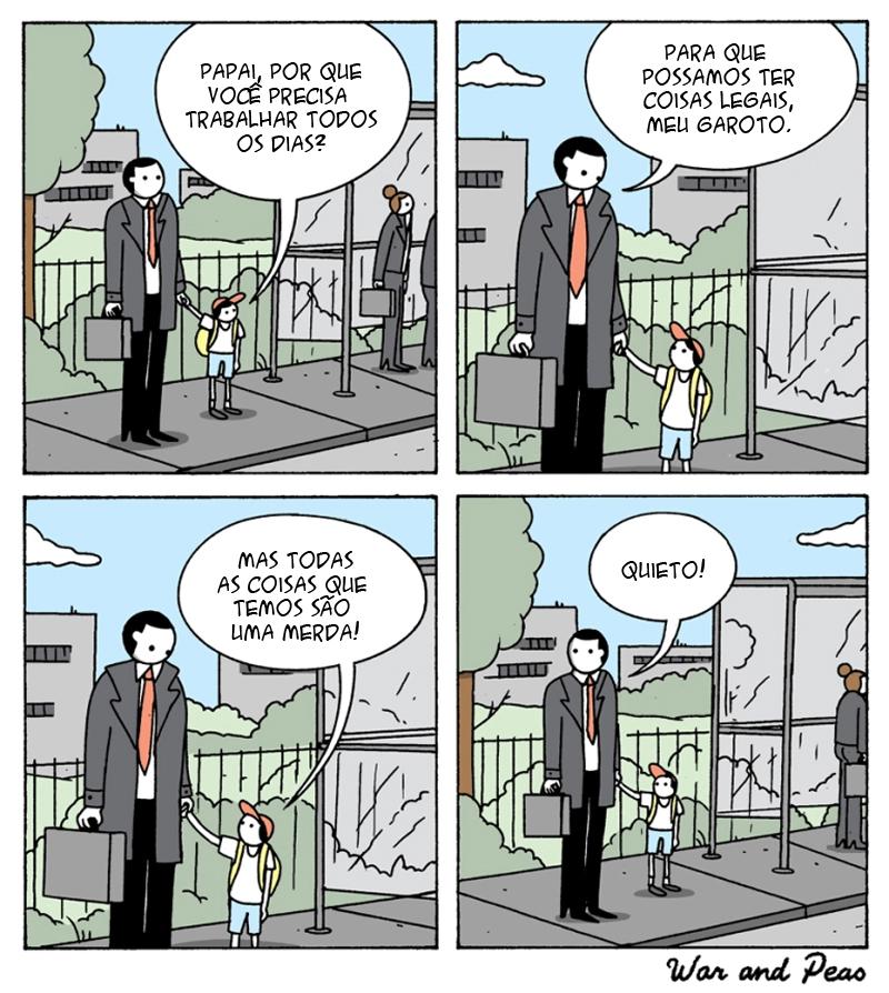 Uma conversa séria entre pai e filho