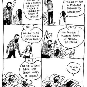 As perguntas de uma criança para o pai desenhista e outras artes de Rafael Sica