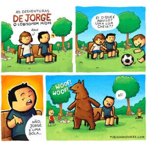 Um lobisomem míope e outros quadrinhos divertidos