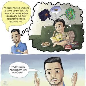 Memórias em quadrinhos sobre pensamentos complicados