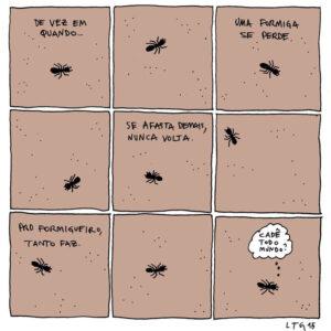 Formigas, a evolução da comunicação e outros quadrinhos aleatórios