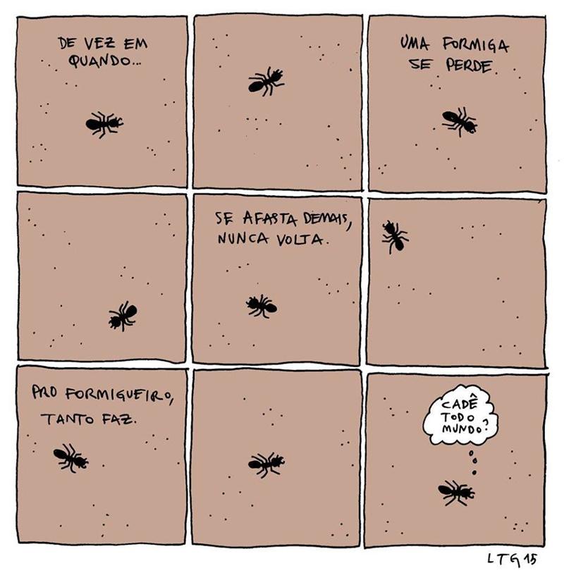 Quando uma formiga se afasta demais do formigueiro