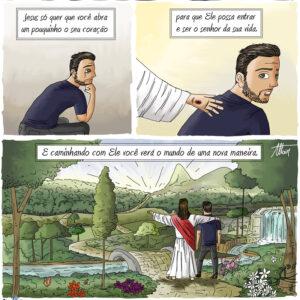 Caminhe com Jesus ao seu lado e veja o mundo de uma nova maneira