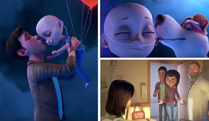 Vencer o câncer é mais fácil quando se está cercado de amor, uma linda animação