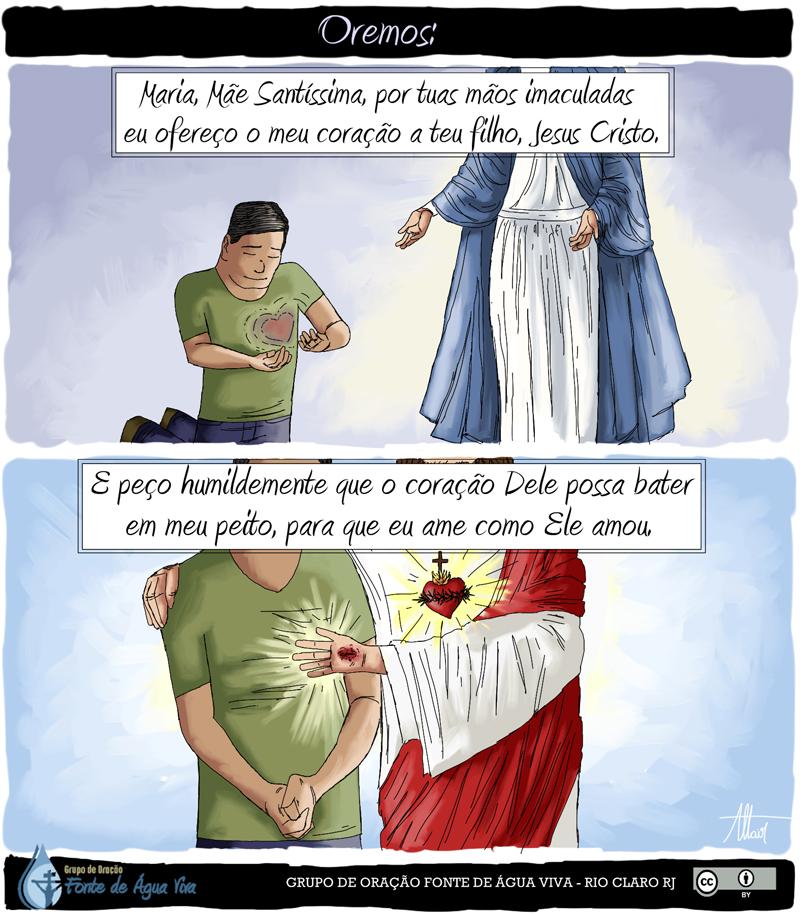 Entregue o seu coração a Jesus, pelas mãos de Maria
