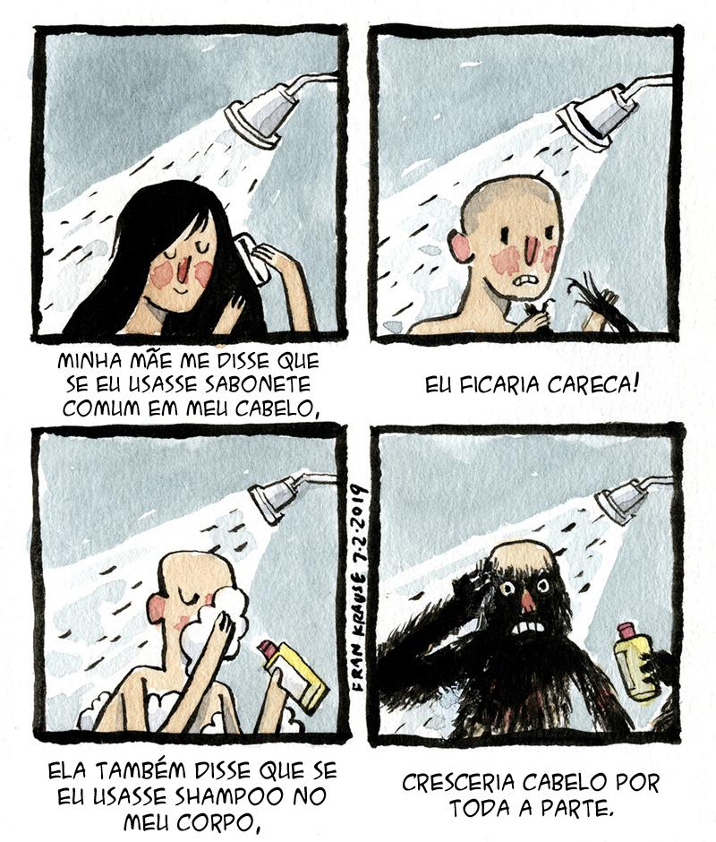 Problemas com o cabelo.