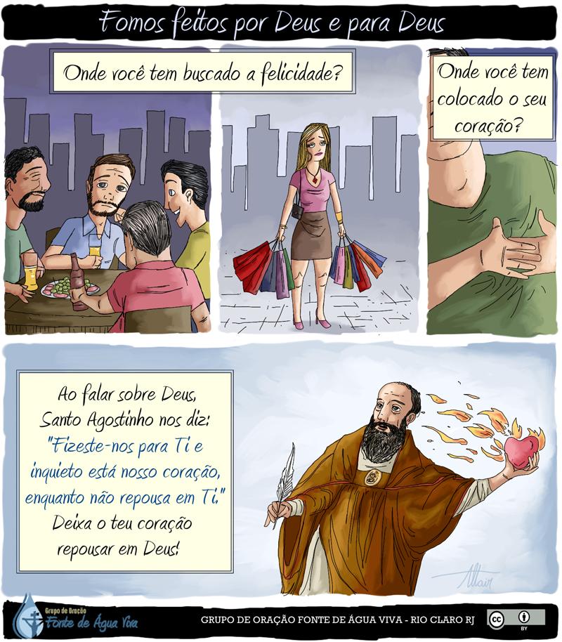 Deixa o teu coração repousar em Deus