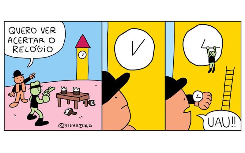 Acertando o relógio.