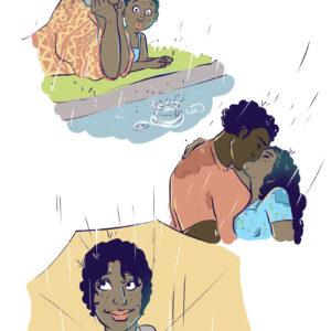 Um dia chuvoso e outros quadrinhos para regar o seu coração