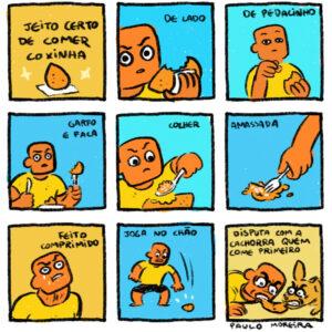 O jeito certo de comer coxinha e outros quadrinhos para quem tem fome de humor