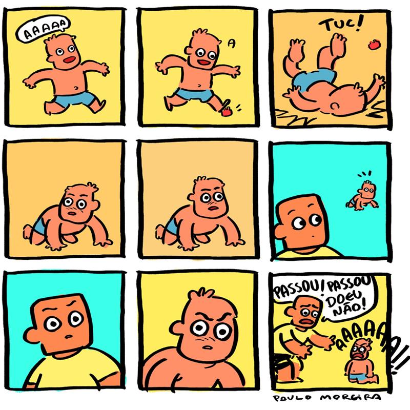 Quando a criança vê que você viu.
