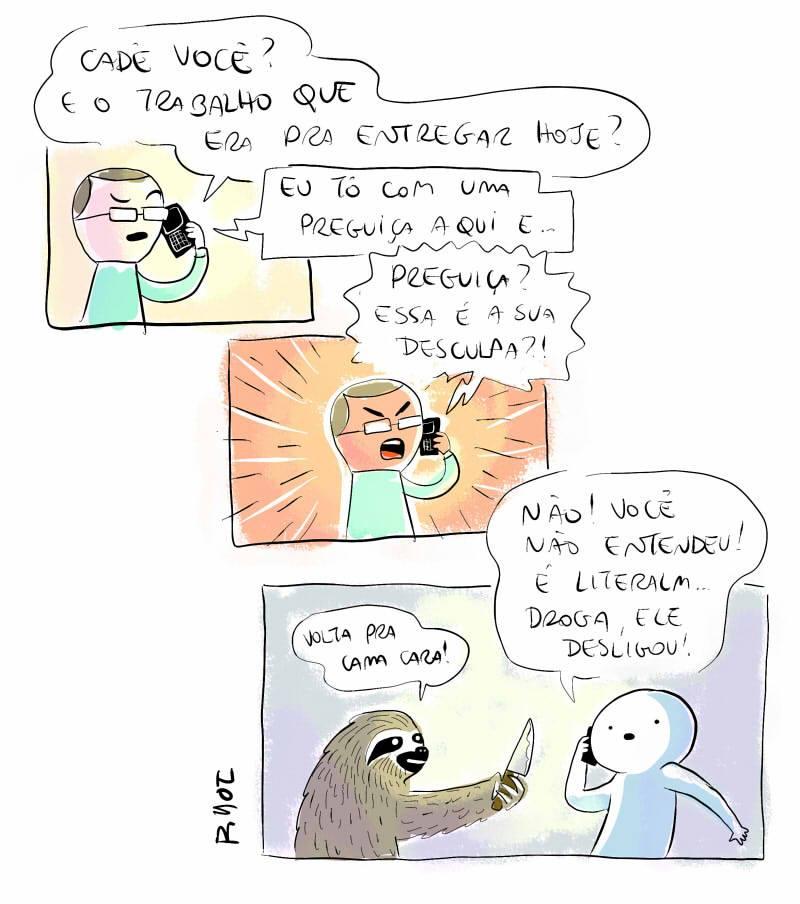 Uma preguiça perigosa e outros quadrinhos assustadores
