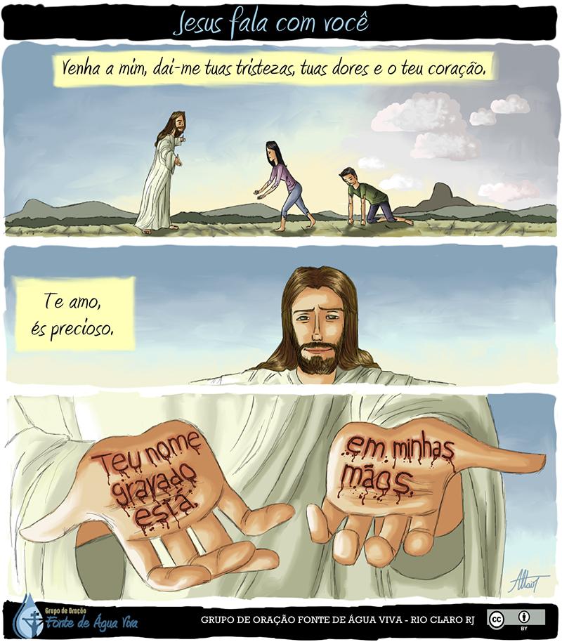 Jesus fala contigo. Você quer ouvir?