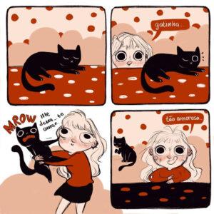 A gatinha carinhosa e outros quadrinhos gostosos de Rafa Villela