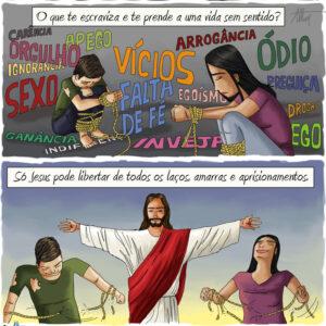 Só com Jesus você pode ser livre de todas as amarras