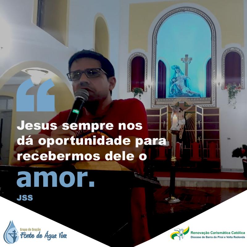 Receba o amor de Jesus.
