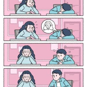 Quando alguém gosta de você até dormindo e outros quadrinhos para amolecer seu coração