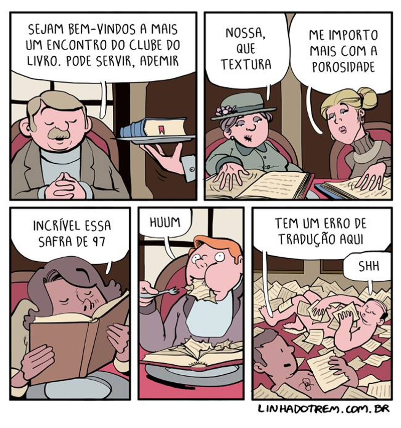 Viciados em livros.