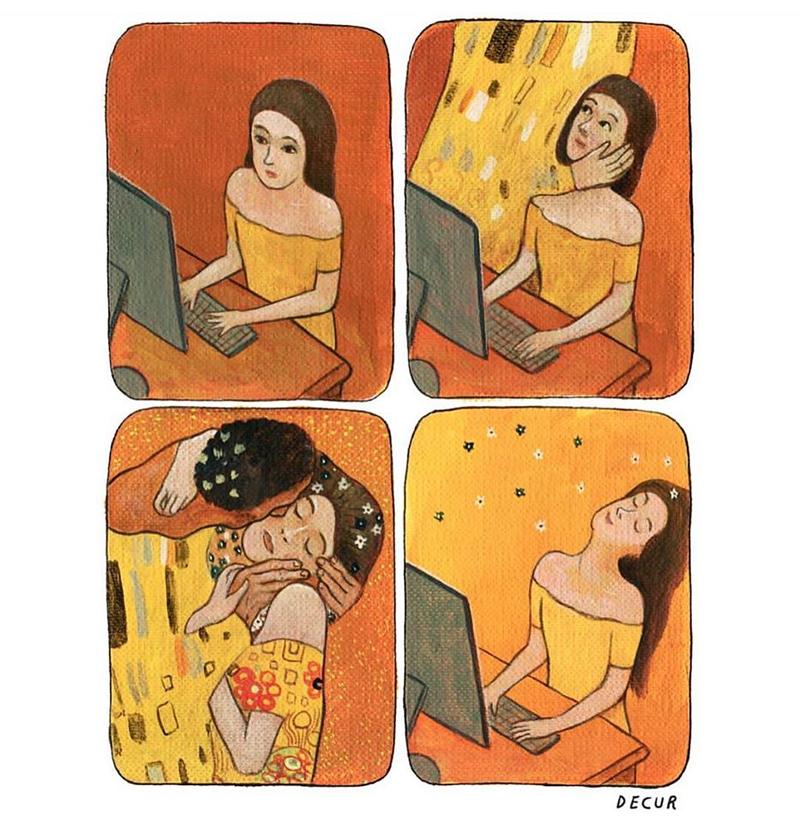 Um elogio virtual e outros quadrinhos amáveis