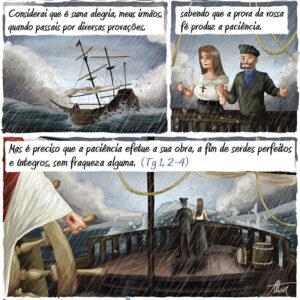 Não tenha medo quando a tempestade ameaçar o barco da sua vida