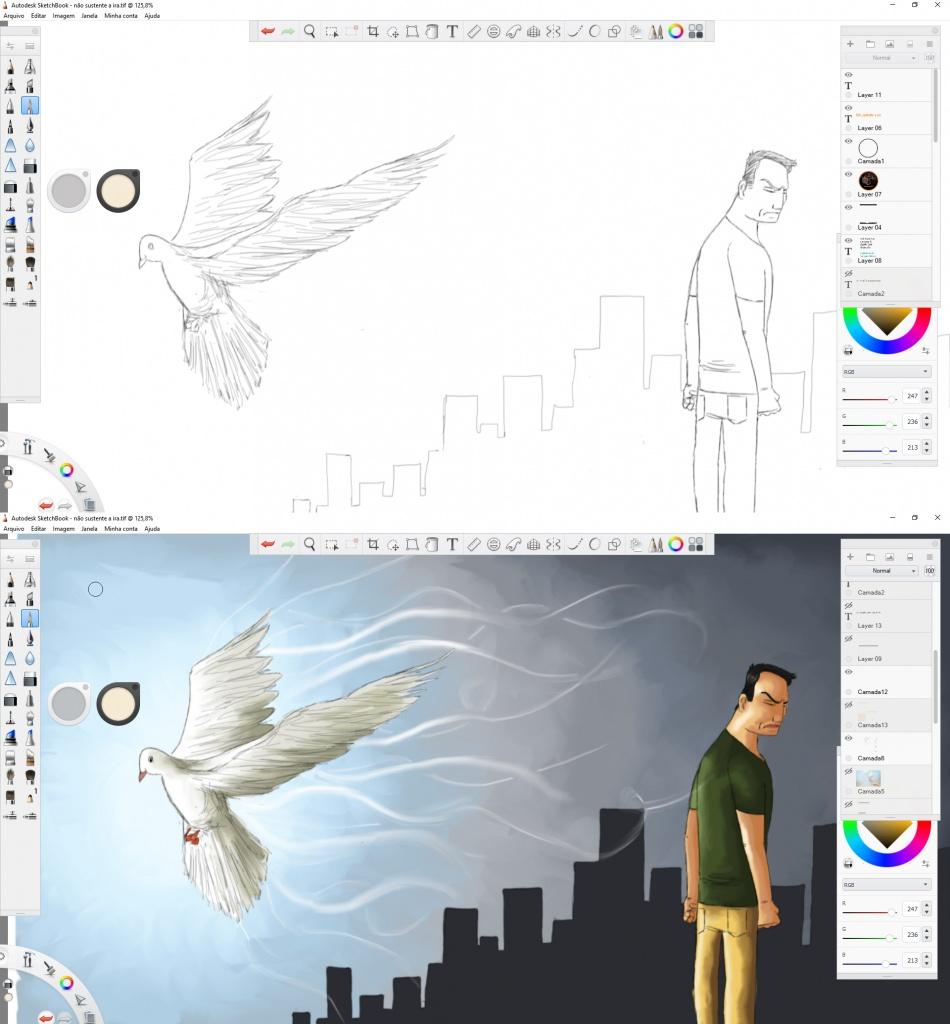 Processo de criação.