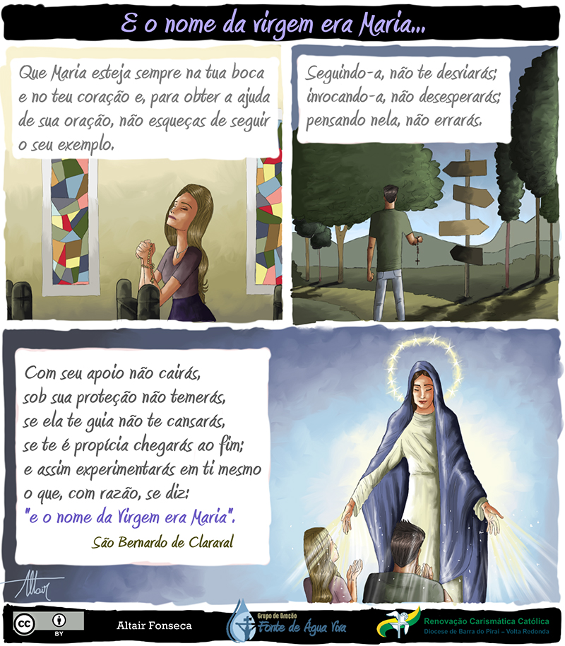 A intercessão da Virgem Maria.