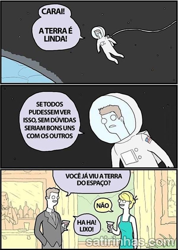 vendo a terra do espaço